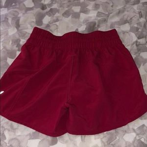 Lululemon Red Tracker shorts
